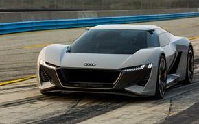 Картинка асфальт, серый, Audi, трек, 2018, PB18 e-tron Concept