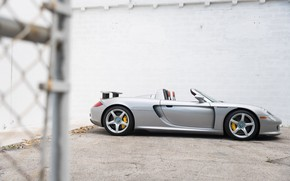 Картинка Суперкар, Porsche Carrera GT, Вид сбоку, German Car