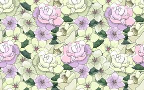 Картинка цветы, Вектор, Ретро, винтаж