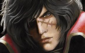 Картинка игра, рисунок, арт, парень, шрам, by redwarrior3