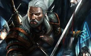 Картинка лес, воин, гоблины, Geralt of Rivia, Ведьмак 3: Дикая Охота