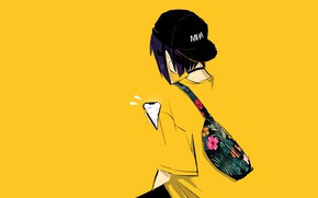 Картинка минимализм, Моя геройская академия, My Hero Academia, Boku No Hero Academia, Jirou Kyouka