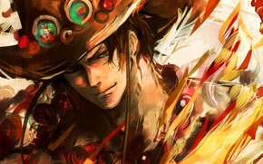 Картинка шляпа, парень, One Piece