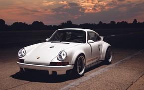 Картинка закат, 911, Porsche, 2018, Singer DLS, Singer Vehicle Design