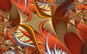 Обои узор, цвет, перья