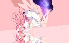 Картинка отражение, минимализм, портал, Mahou Shoujo Madoka Magica, Девочка волшебница Мадока