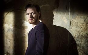Картинка взгляд, стена, тень, мужчина, свитер, James McAvoy