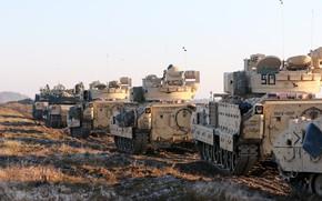 Картинка поле, армия, бронетехника