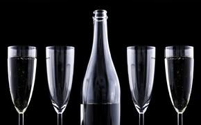 Картинка celebration, bottle, winecups, glass ware