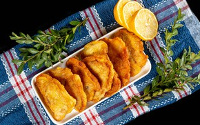 Картинка лимон, рыба, блюдо, специи