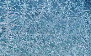 Картинка иней, стекло, узор, мороз