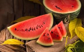 Картинка Арбуз, ягода, дольки