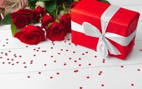Картинка подарок, букет, розочки, День рождения