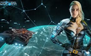 Картинка space, fantasy, game, science fiction, spaceship, planet, digital art, artwork, cyborg, Starpoint Gemini Warlords