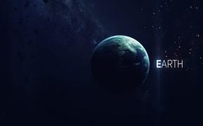 Картинка Планета, Космос, Земля, Арт, Space, Art, Earth, Planet, Астероиды, Asteroids, Mother Earth, Vadim Sadovski, by …