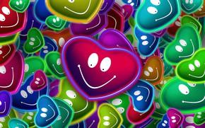 Картинка любовь, сердечки, улыбки