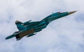 Обои истребитель-бомбардировщик, Су-34, многофункциональный, ВКС России