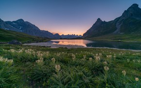 Картинка горы, Франция, вечер, Альпы, Valloire Galibier