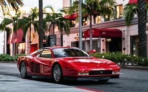 Картинка Красный, Авто, Машина, Феррари, Ferrari, Спорткар, 1986, Testarossa, F512 M, 512 TR, Ferrari Testarossa, Ferrari ...
