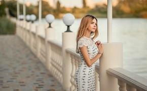 Картинка girl, pretty, blonde, pose, Георгий Дьяков