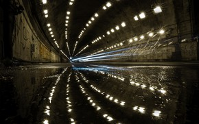 Картинка город, улица, тоннель