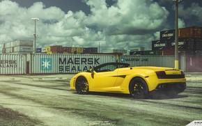 Картинка Lamborghini, Gallardo, Spyder