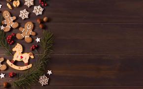 Картинка печенье, Рождество, Новый год, christmas, new year, cookies, decoration, пряники, gingerbread
