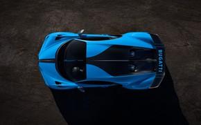 Картинка Bugatti, вид сверху, гиперкар, Chiron, 2020, Pur Sport