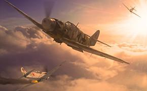 Картинка Messerschmitt, Luftwaffe, Вторая Мировая война, Erich ''Bubi'' Hartmann, Bf.109G-14, Bf-109G