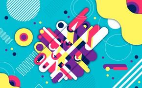 Обои абстракция, фон, colorful, геометрия, Abstract, background, rounded, shapes, Geometric