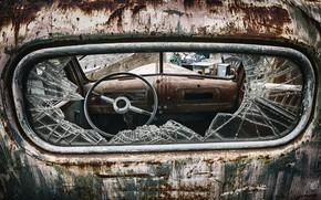 Картинка машина, руль, лом