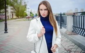 Картинка взгляд, девушка, город, волосы, Даша, Efremov Sergey