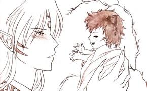 Картинка малышка, Инуяша, Кагоме, InuYasha, Сешоумару