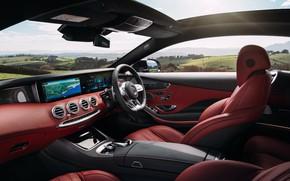 Картинка Mercedes-Benz, салон, AMG, Coupe, 2018, 4MATIC, S63