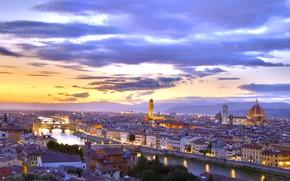Картинка city, sunset, florence