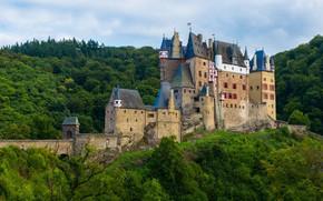 Картинка лес, замок, Германия, Эльц, Burg Eltz