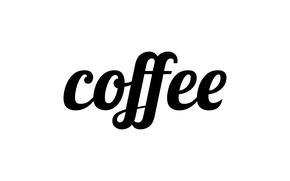 Картинка буквы, кофе, слово, coffee