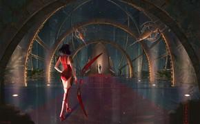 Картинка девушка, тоннель, парень