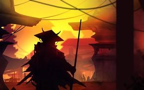 Картинка Рисунок, Пейзаж, Арт, Landscapes, Digital Art, Samurai, TacoSauceNinja, by TacoSauceNinja, Lost Samurai