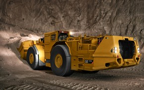 Картинка шахта, грунт, Caterpillar, погрузчик, R1700G