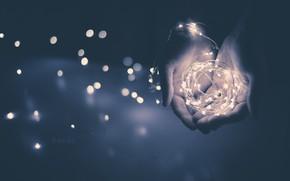 Картинка свет, фон, руки