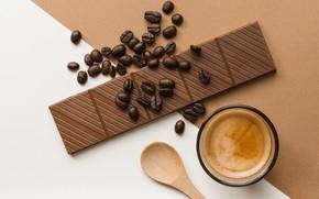 Обои кофе, шоколад, десерт