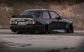 Картинка рендеринг, Авто, Черный, BMW, Машина, E30, BMW M3, Concept Art, BMW E30, BMW E30 M3, …