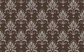 Картинка ретро, фон, коричневый, орнамент, style, винтаж, бежевый, ornament, seamless, victorian