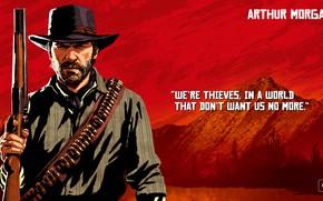Картинка арт, бандит, Rockstar, Red Dead Redemption 2, Arthur Morgan