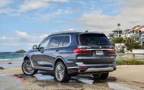 Картинка побережье, BMW, 2018, кроссовер, SUV, 2019, BMW X7, X7, G07