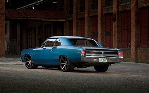 Картинка Chevrolet, Blue, Coupe, Chevelle, Muscle car, Big Block