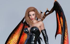 Картинка девушка, крылья, демонесса