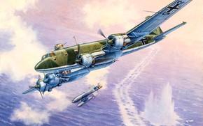 Картинка Бомбардировщик, Fw-200C-6, Condor, Дальний разведчик, Focke-Wulf, Люфтваффе