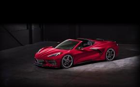 Картинка Corvette, Chevrolet, Колеса, Фары, Диски, Stingray, Спорткар, 2020, Chevrolet Corvette ( C8 ) Stingray